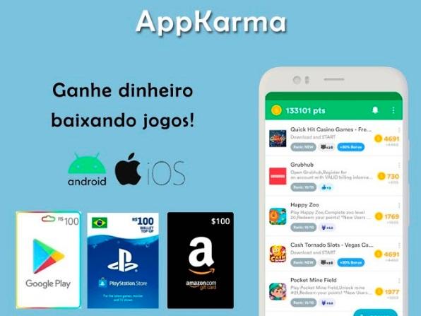 Obtenha giftcards com AppKarma