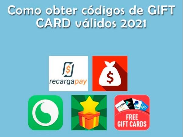 obter codigos gift card 2021
