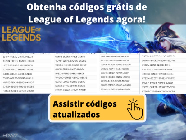 obter codigos leage of legend